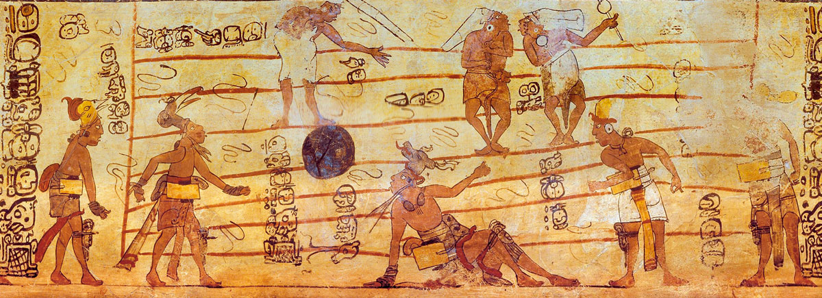 Игра в мяч у древних Майя