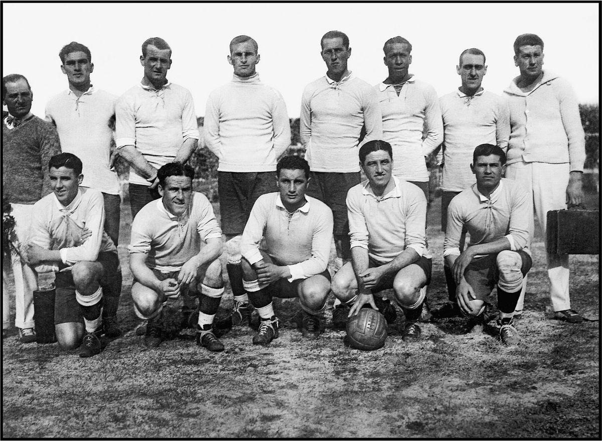 Сборная Уругвая перед финальным матчем Чемпионата Мира с Аргентиной.