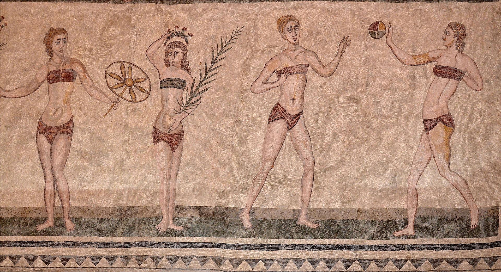 Игра в мяч в Древней Греции