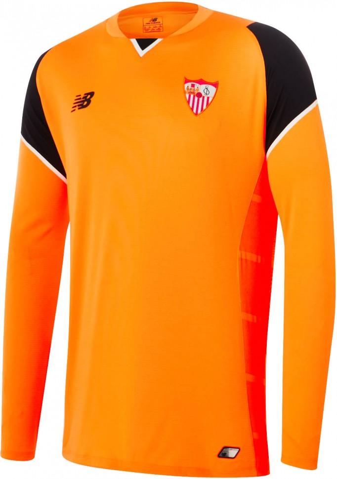 eeb9168e09a1 Детская форма голкипера футбольного клуба Севилья 2016 2017 (комплект   футболка + шорты +