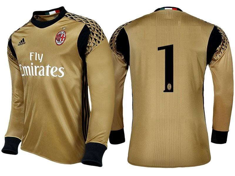 c1ef070beba6 Мужская форма голкипера футбольного клуба Милан 2016 2017 (комплект   футболка + шорты +